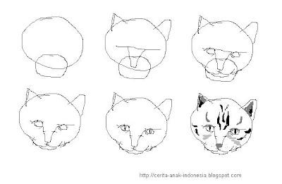 Cara+menggambar+kucing