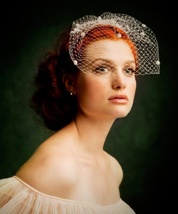 veil hairstyles. birdcage veil hairstyles. stylish irdcage veil from