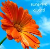 My sunshine blog award