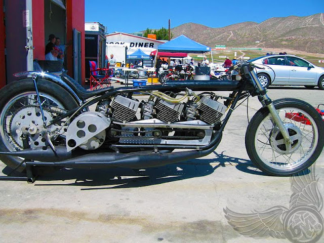 freaky 3-motor two-stroke drag racer Three R5 motors in one fun drag  title=