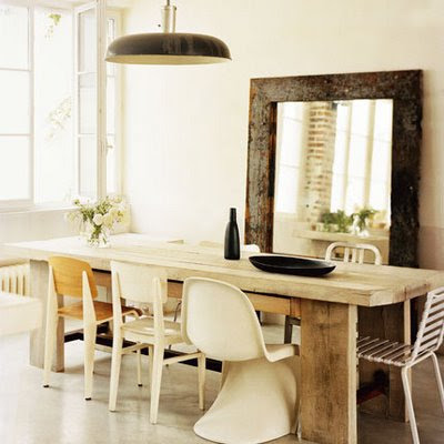 down and out chic oversized mirrors