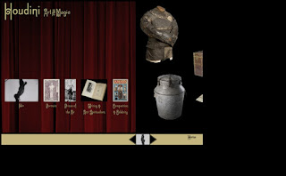 houdini art and magic online exhibition homepage with real photos and videos
