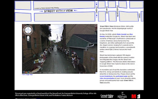 street with a view - introducing fiction into google sreet view homepage showing bands procession and activities