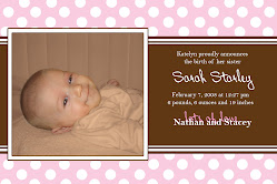 Sarah's Birth Announcement