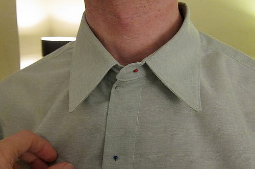 The KS neck is too big. Nice collar points, though, right? ;-)