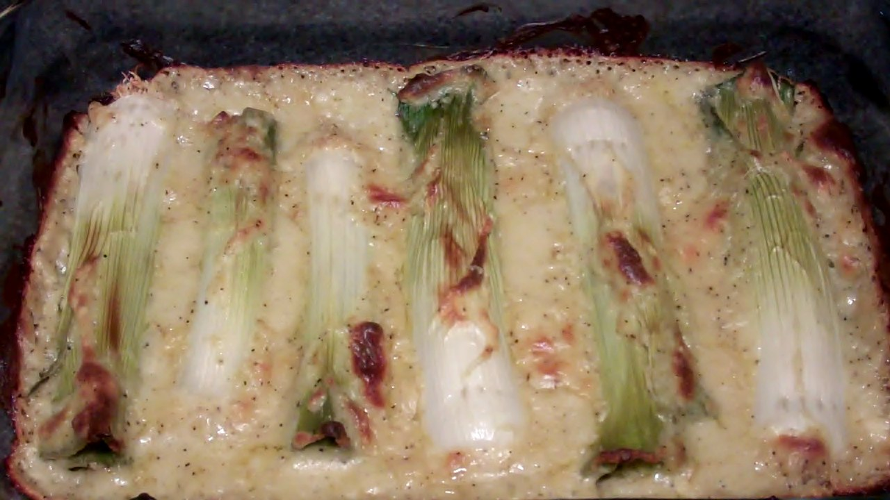 how to cook leeks with cheese sauce