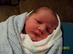 Jedidiah Eli Coon, born November 1 @ 6:50am, 9 1/2 lbs, 21 inches