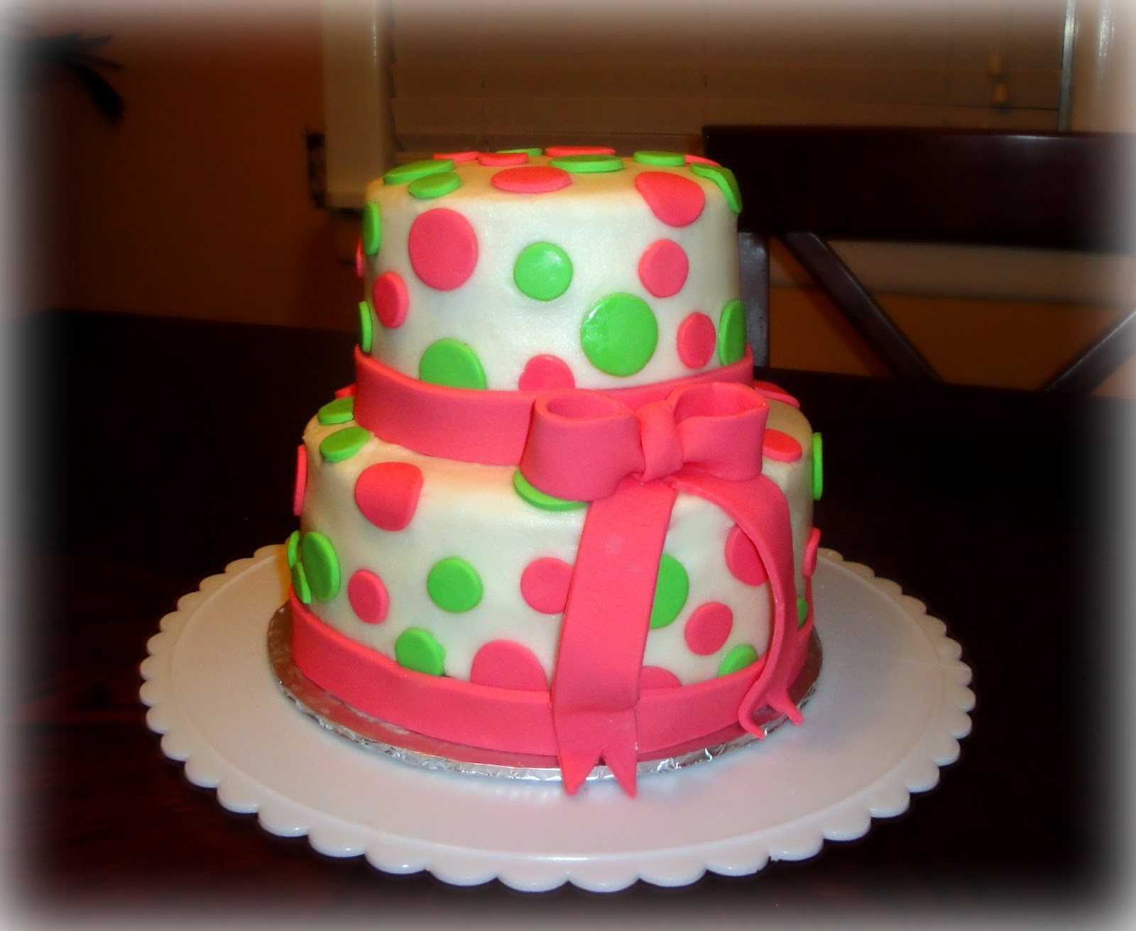 Simple Cake Designs For Girl Birthday : Confections: Girl s First Birthday