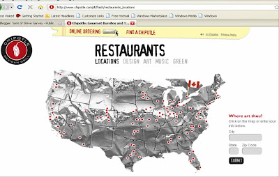 Sons Of Steve Garvey Chipotle Cartography - Map of chipotle locations in the us