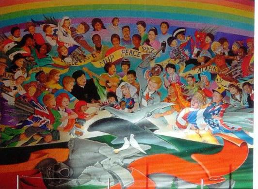 Weird painting at denver internation airport sam 39 s for Denver airport mural conspiracy
