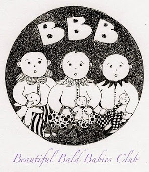 Member of the 'Beautiful Bald Babies Club'!