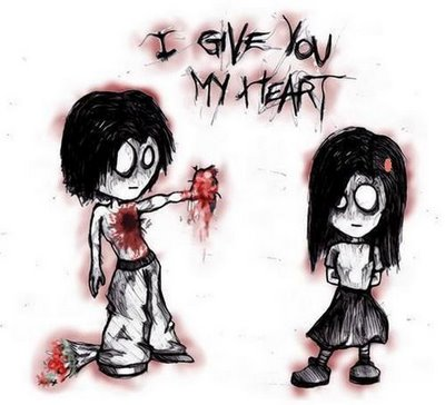 cartoons in love. i love you emo cartoons.