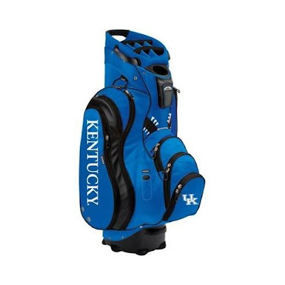 University of Kentucky Wildcats blue golf bag made for using with a golf cart.
