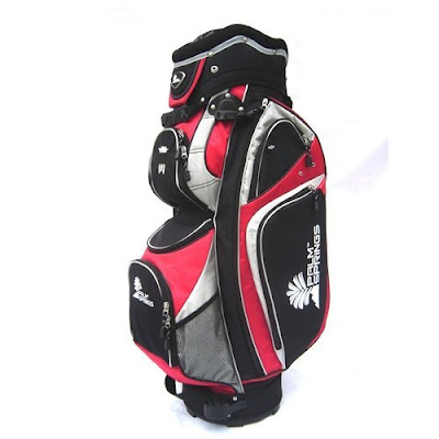 University of Nevada Las Vegas (UNLV) Rebels colored golf bag that is red and gray.