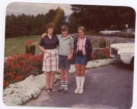 My sad attempt at a Dorothy Hamill haircut--NEW HAMPSHIRE.