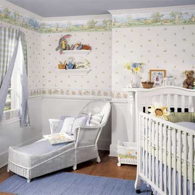For the longest time, nursery rooms were decorated with simple wallpaper