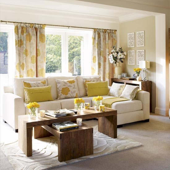 Simply home designs home interior design decor window Yellow living room accessories