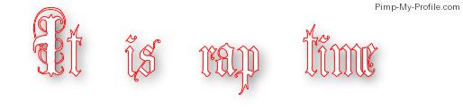 It's rap time