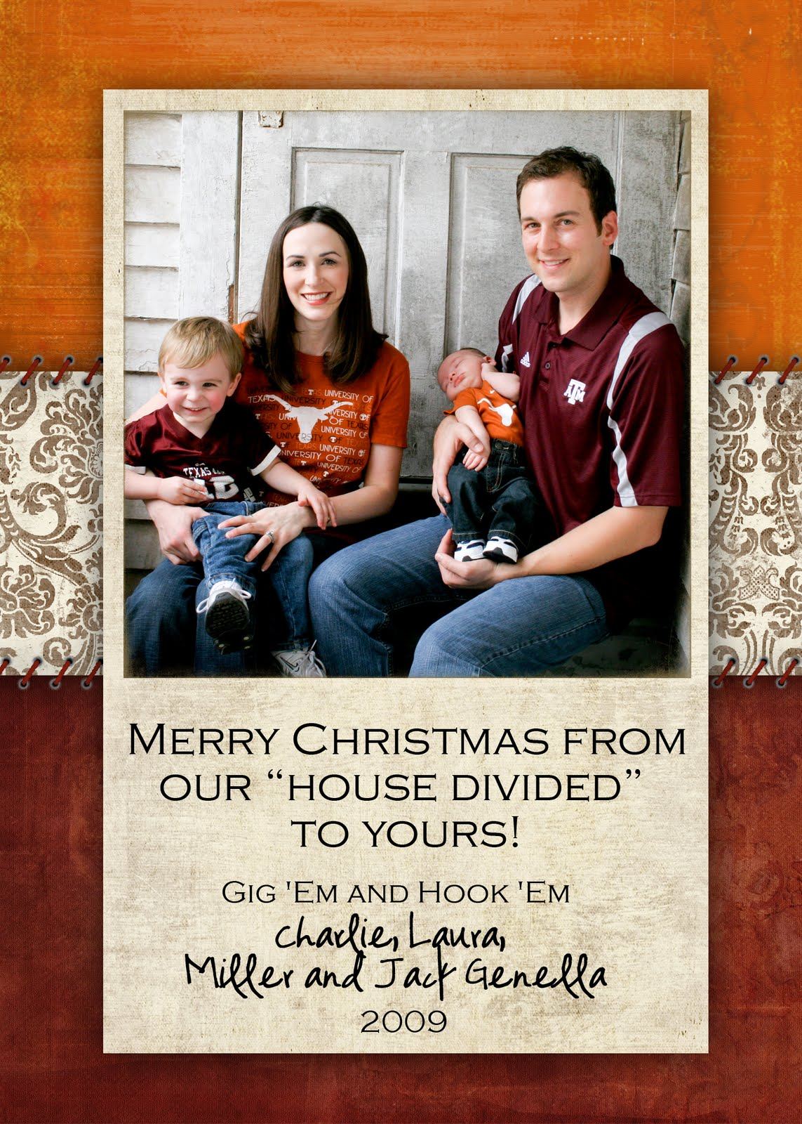 Slightly Askew Designs: Christmas 2009 - The Genella Family
