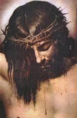 يسوع المسيح علي الصليب..