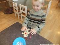 NAMC montessori activities holiday winter sandpaper gingerbread men