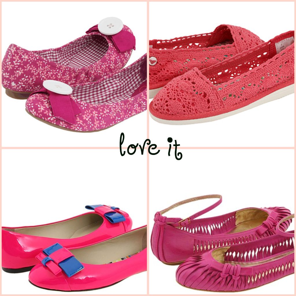 f for fabulous pink flat shoes