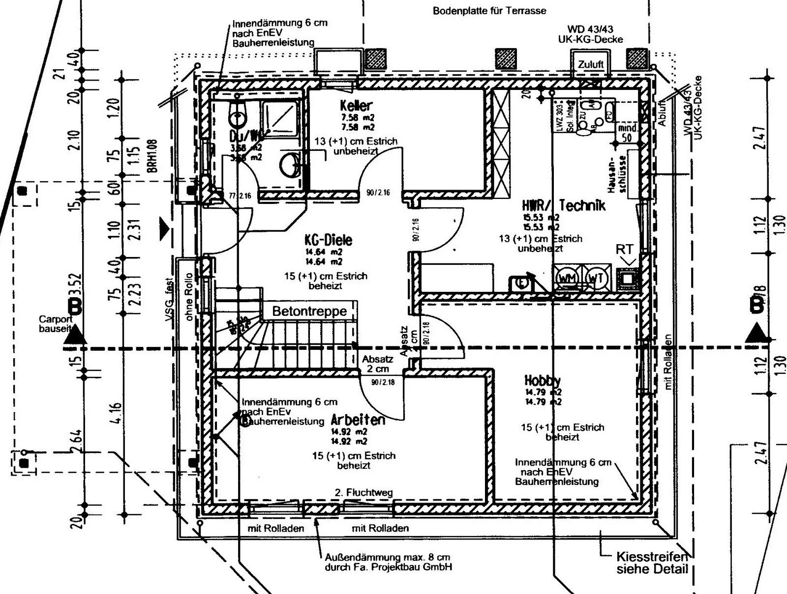 Dusche Im Keller Einbauen : im vorderen bereich des kellers werden wir zwei zimmer haben