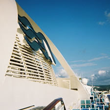 High up on the Golden Princess