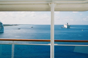 Starboard view from Prego Pizzeria, Lido Deck 14