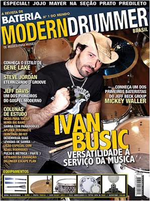 Capa da Modern Drummer com Ivan Busic