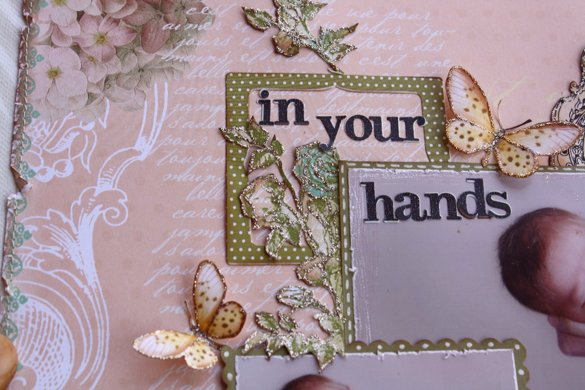 How to make scrapbook creative -  I Did A Small Tutorial On How To Make The Scallop Edge Ribbon Design In An Earlier Post You Can Find It If You Scroll Through A Couple Past Posts