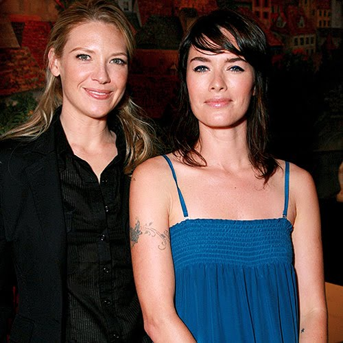 Photo of Lena Headey & her friend actress  Anna Torv - Longtime