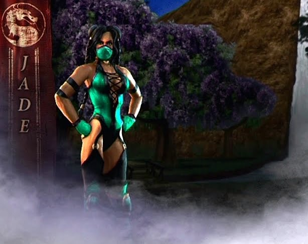 mortal kombat 9 reptile alternate costume. mortal kombat 2011 jade