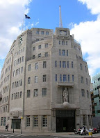 Broadcasting House, lair of the BBC - by Briantist via Wikimedia Commons, public domain