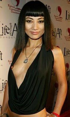 Bai Ling shows a nipple