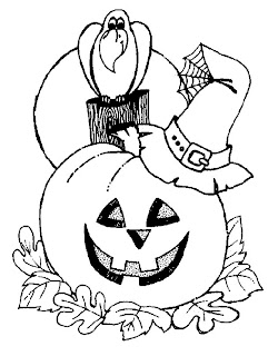 Kids coloring pages on halloween