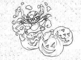 halloween monster coloring pages for kids