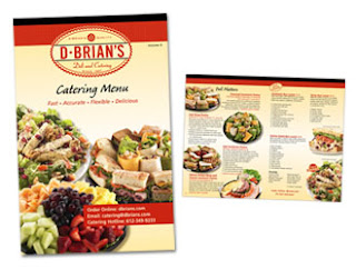 Food brochures deli catering brochure for Catering brochure templates