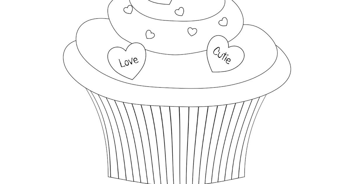 Cute Birthday Cupcake Coloring