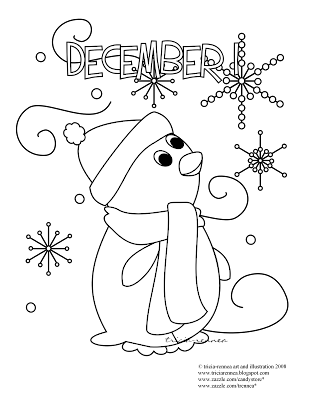 Spiffy spotlights closed december coloring page other fun for December coloring page