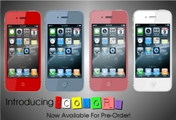 New 'iColors' Converts Black iPhone 4 to Red Blue Pink or White iPhone