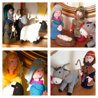 Knitting Patterns For Nativity Figures : PRETTY FAR WEST: knitted nativity