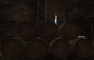 Kallan in a cellar