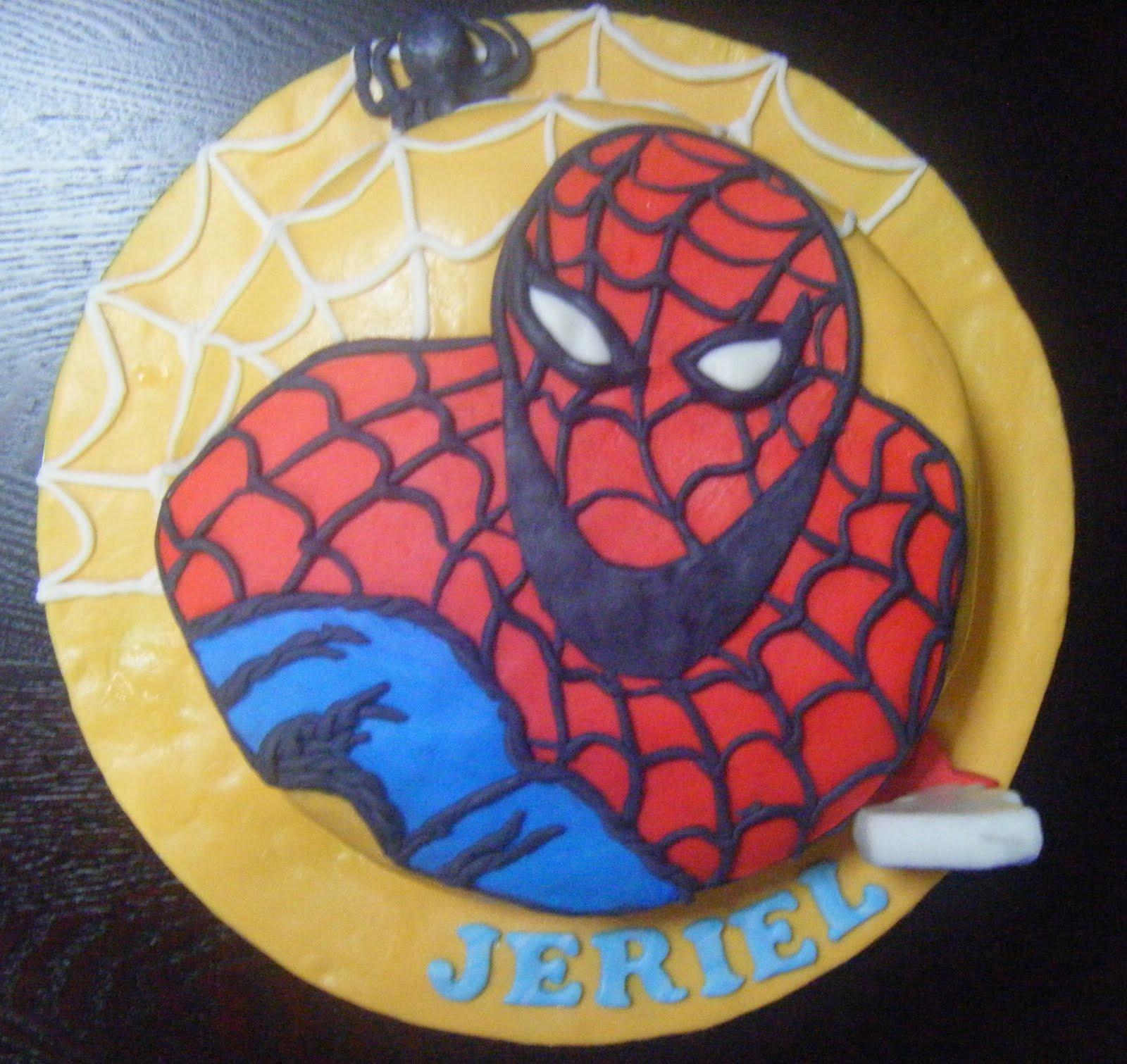 spiderman fondant cakes