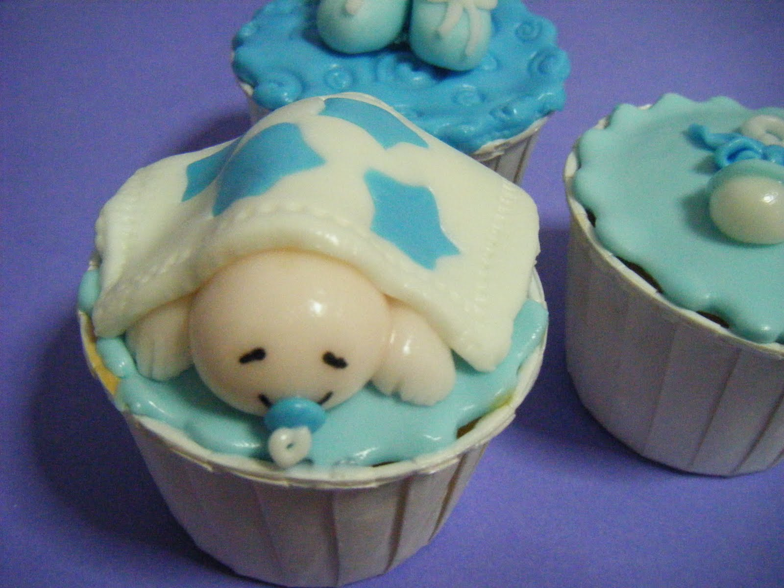 ecupcakes baby boy shower cupcakes