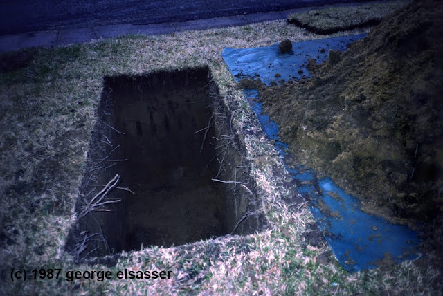 """image of empty grave"", (c) 1987 george elsasser"