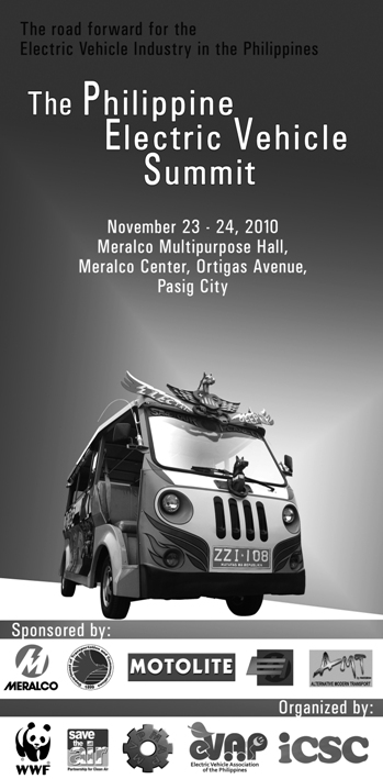 First Philippine Electric Vehicle Summit Starts Tomorrow
