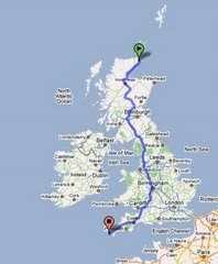 Lands End to John O'Groats in 9 days!