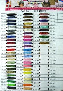 Cartilla de colores perfecci n en el tejido for Cartilla de colores