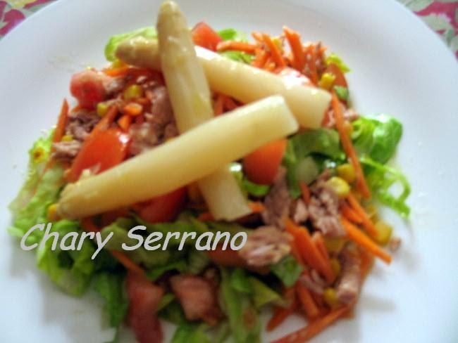 Mi cocina y otras cosas chary serrano ensalada mixta - Comidas con esparragos ...